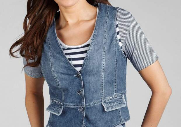 Модные и стильные джинсовые жилеты: идеи и мастер класс