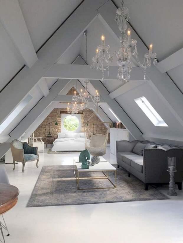 Уютные мансардные спальни. Дизайн и декор спальни