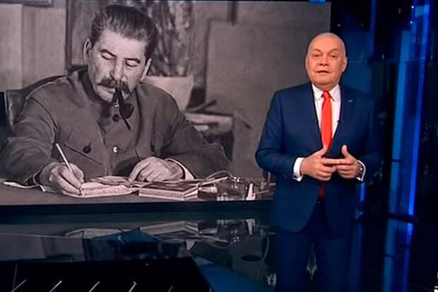 Либеральный патриот Киселев с экрана ТВ призывает выдавливать «Маленького Сталина», митрополит Иларион валит на него все промахи ВОВ