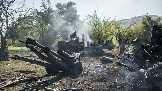 Азербайджан сообщил об уничтожении армянской военной колонны в Карабахе