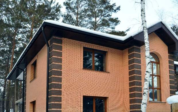 Облицовка дома кирпичом: оригинальный эксклюзивный дизайн (59 фото)