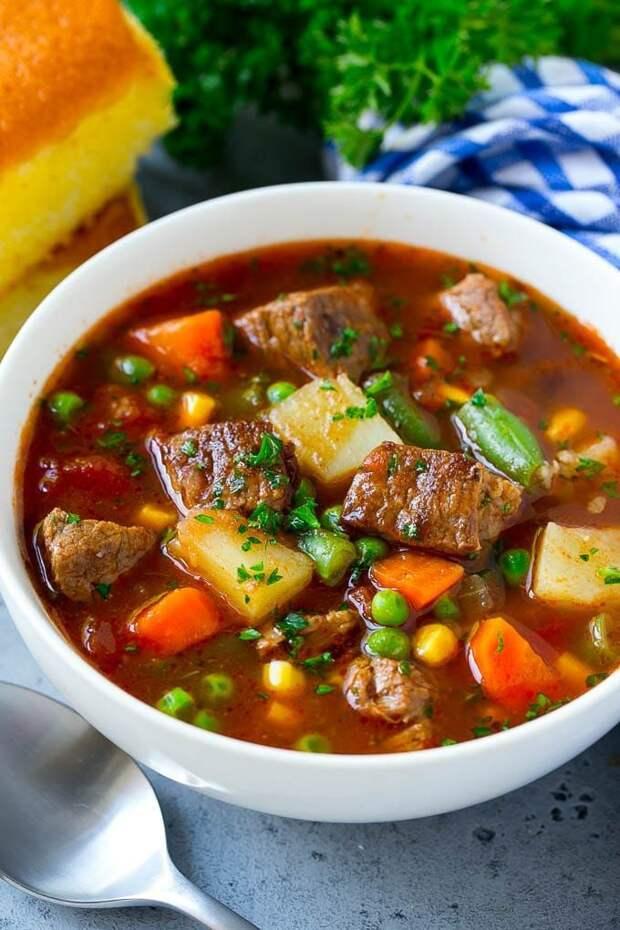 Вы будете без ума от такого супа! Потрясающий мясной суп.