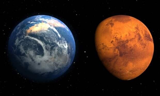 Марс был похож на Землю в начале существования