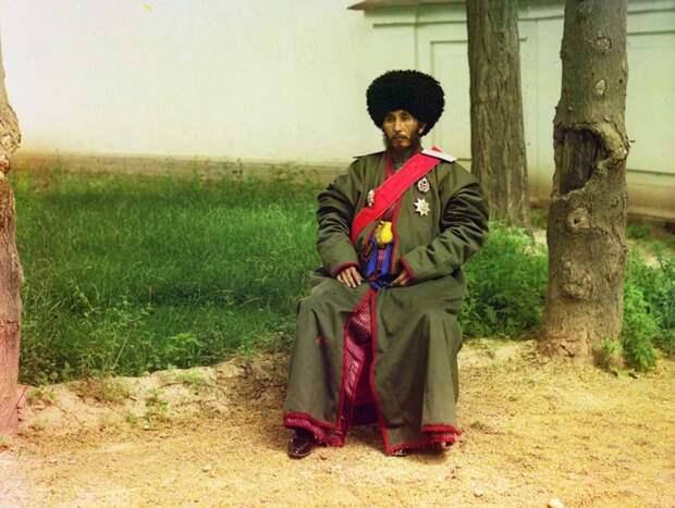 Исфандияр Юрджи Бахадур, хан региона Хорезм (Хива, теперь часть современного Узбекистана), ок. 1910 год. (Prokudin-Gorskii Collection/LOC) империя., путешествия, цветное фото