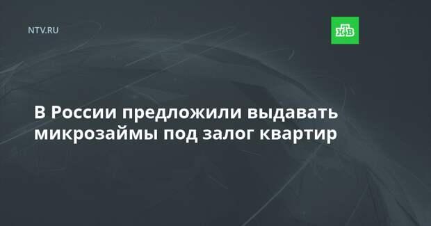 В России предложили выдавать микрозаймы под залог квартир