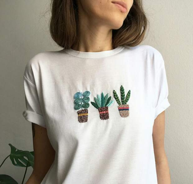 Вышивка футболки