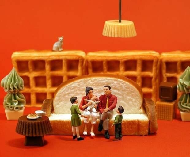 Играть с едой бывает полезно: за «съедобным» творчеством японского художника следит более 3 млн поклонников