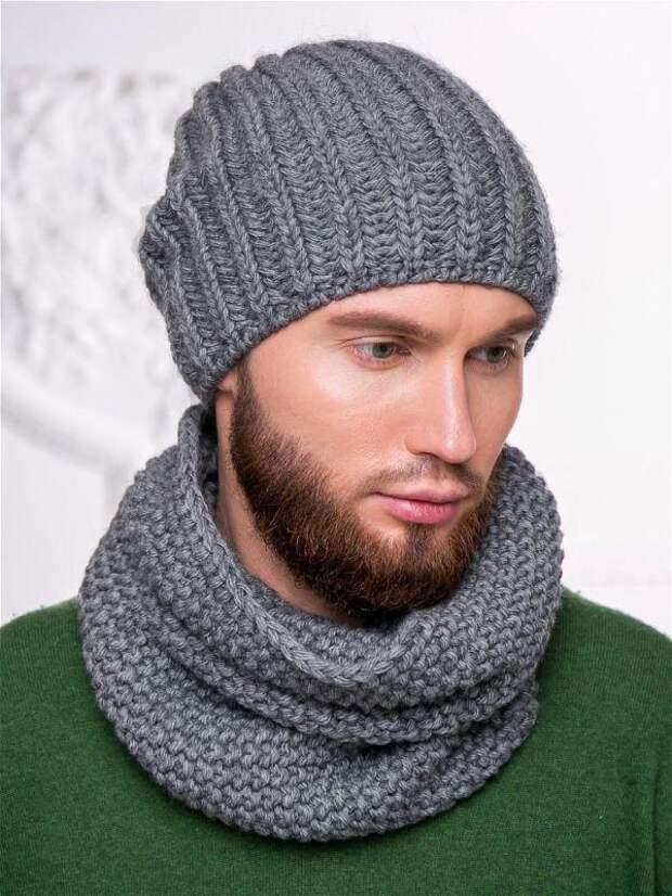 Мужская шапка английской резинкой
