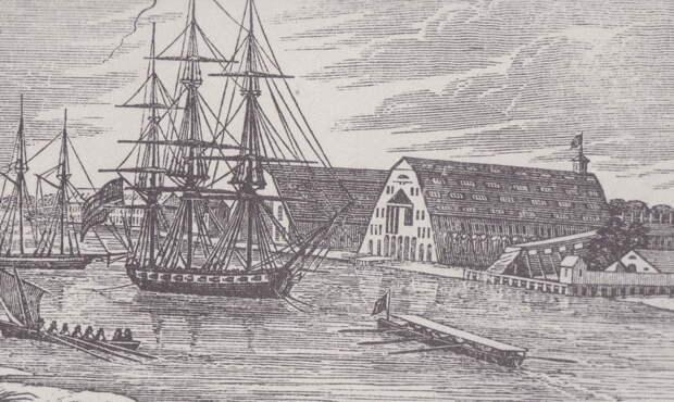 Портсмутская верфь, 1840 год. encyclopediavirginia.org - «Паровые» реформы Адмиралтейства | Warspot.ru