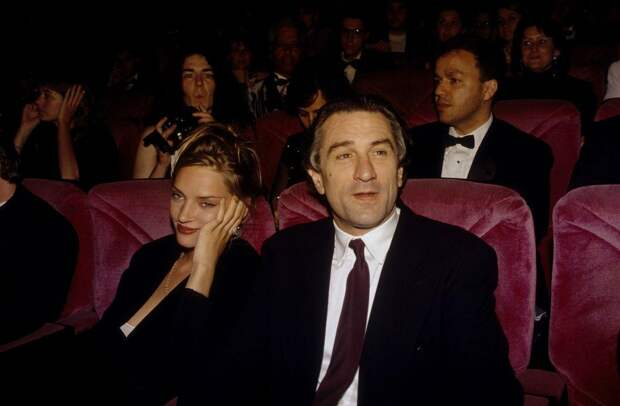 Ума Турман и Роберт Де Ниро в 1993 году.