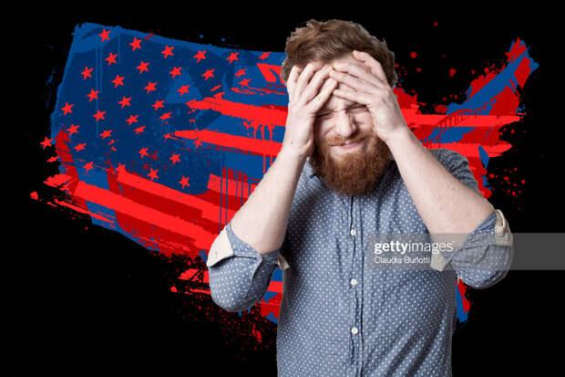 US man distressed flag