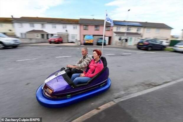 Британский инженер переделал бамперную машинку в транспортное средство, которому не страшны никакие вмятины