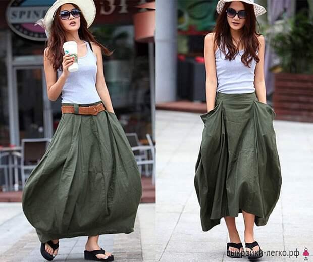 Выкройка юбки в стиле бохо: необычная «лепестковая» юбка