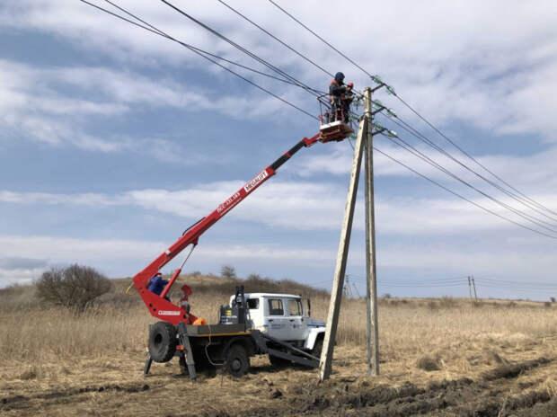 В станице Гостагаевской завершен первый этап масштабной реконструкции электросетей