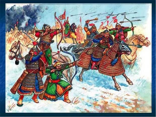 Монгольские воины,закованные в железо.Железо в Монголии не добывается и сейчас. история, монголы