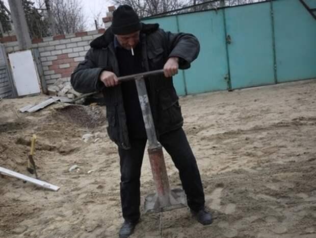 Тромбовка цементно-песчаного основания