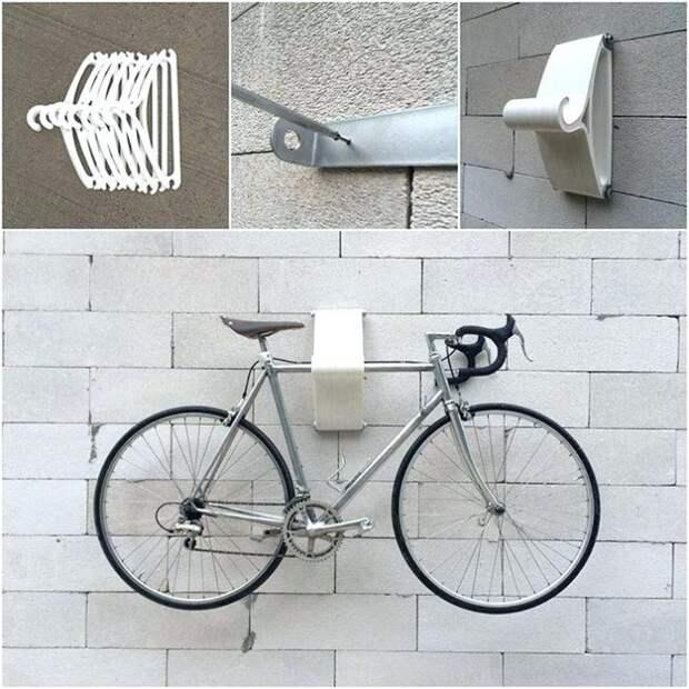 Велосипеды на плечиках и без