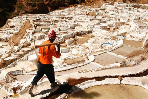 Соляные бассейны в Куско, Перу