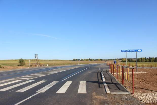 Дорогу между Сарапулом и Воткинском отремонтировали в Удмуртии