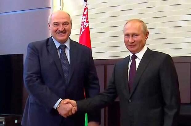 Владимир Путин и Александр Лукашенко. Фото: Kremlin Pool/via Globallookpress.com/www.globallookpress.com