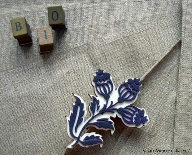 Идеи упаковки новогодних подарков. Шьем мешочки и украшаем их орешками (11) (489x395, 208Kb)