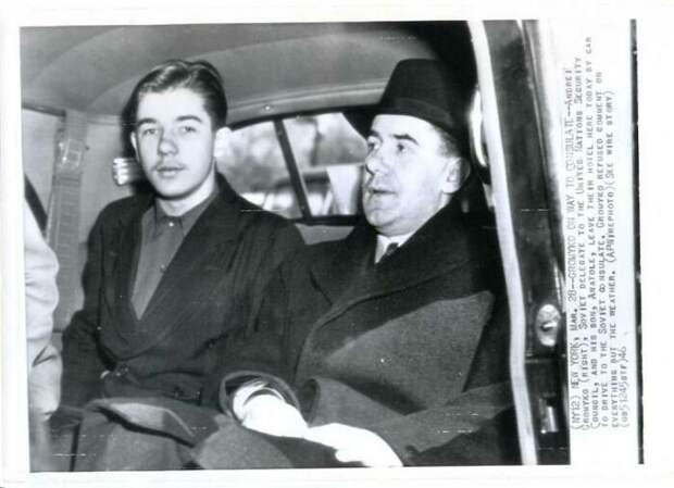 Громыко с сыном, другом Шевченко.