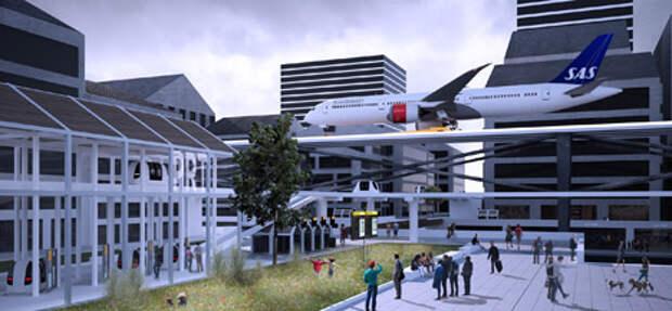 Аэропорт Стокгольма поднимет взлетно-посадочные полосы над городскими крышами