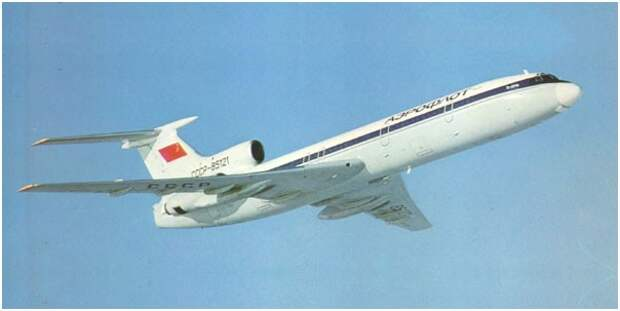 Испытания лайнера Ту-154