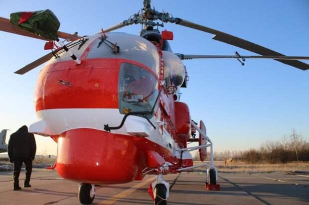 Новый пожарный вертолет московских спасателей заступил на боевое дежурство