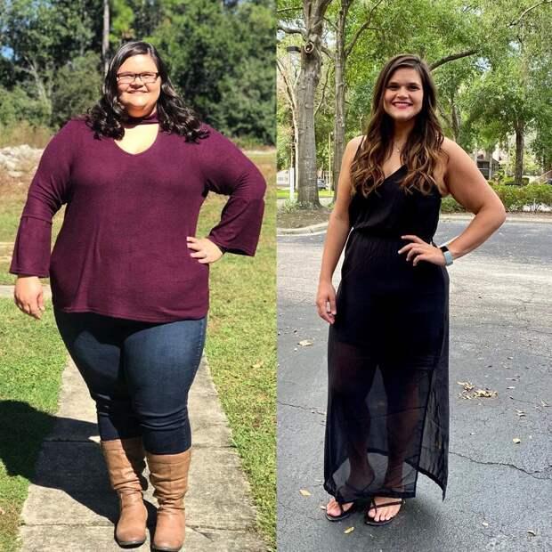 16 мотивирующих фотографий людей до и после того, как они встали на борьбу с лишним весом и победили