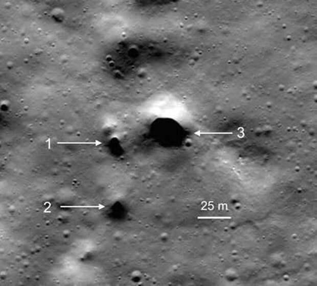 Близ северного полюса Луны открыты возможные входы в лавовые трубки