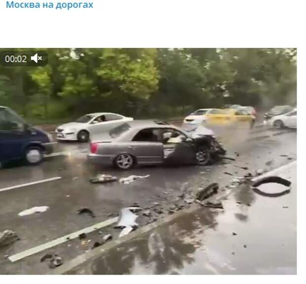 На Коровинском шоссе произошла авария