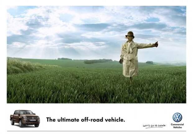 Volkswagen Commercial Vehicles: Scarecrow, Volkswagen, DDB, Volkswagen Group, Печатная реклама