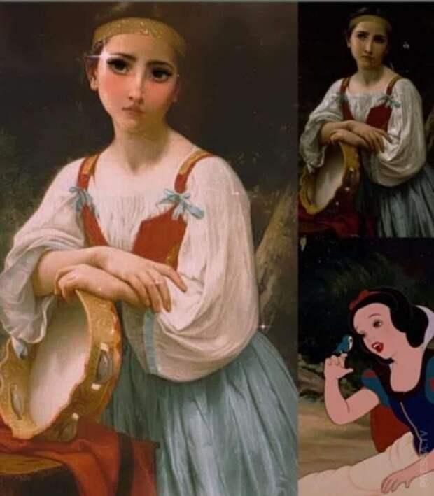 Если применить фильтр «Мультипликационная принцесса» к работам известных художников