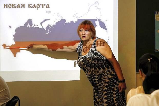 На уроке географии в сентябре 2014 года. Фото: Валерий Матыцин/ТАСС