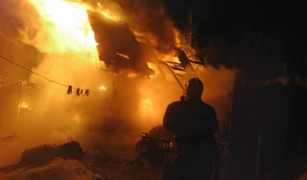 Всадах под Нижним Тагилом сгорел частный дом