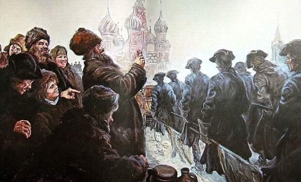 Марш военнопленных шведов 1 января 1710 года