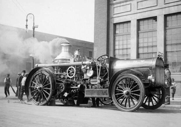 Пожарная машина. Нью-Йорк, начало XX века история, мгновения жизни, фотография