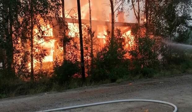 Жилой дом вКарелии сгорел дотла