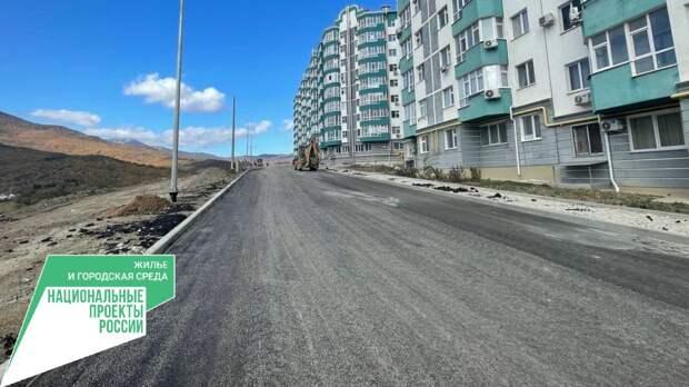 Готовность подъездной дороги к ЖК «Семейный» в Алуште составляет 80%