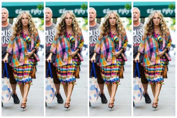 Посмотрите, как Сара Джессика Паркер гуляет по Нью-...