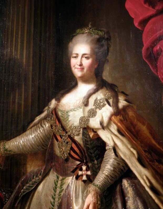 Портрет Екатерины II (1763 год). Автор: Федор Рокотов.