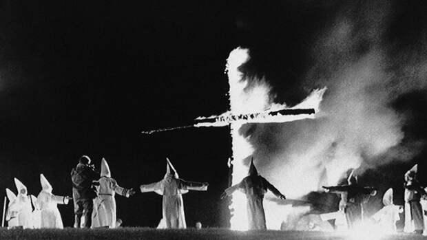 Ку-клукс-клана в Рамфорде, штат Мэн, 1987 год.