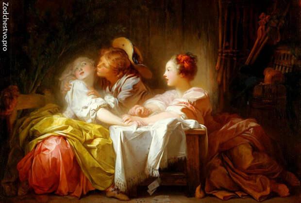прекрасные дамы в стиле рококо