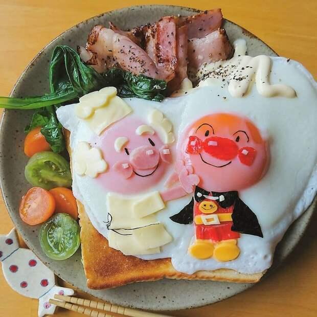 Японская мама покорила сеть завтраками, которые она готовит для своих детей