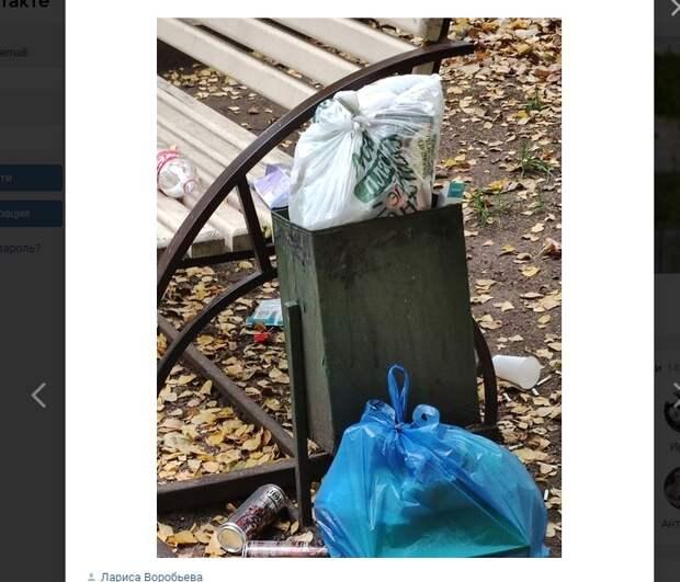 Ленивых утилизаторов мусора из Кузьминок осудили в соцсетях