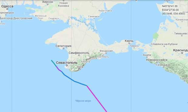 Британский эсминец понюхал русские бомбы