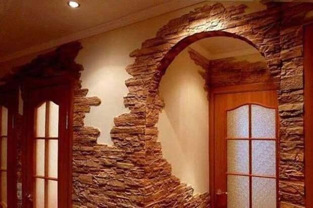 Имитация натурального камня — солидный интерьер при минимуме затрат