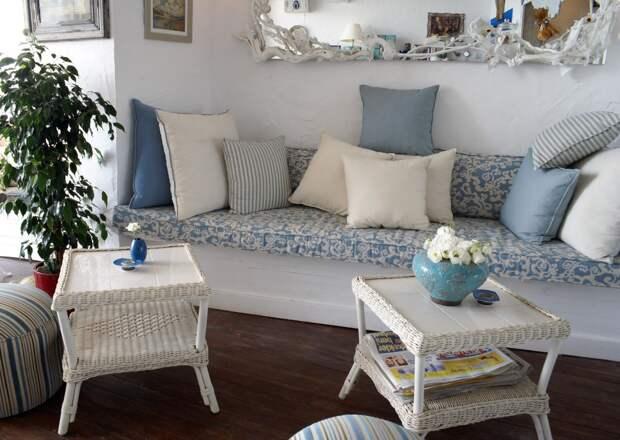 Стиль Прованс в интерьере: плетёная мебель