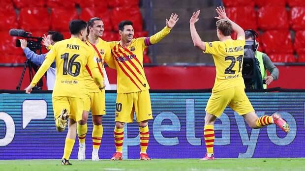«Атлетик» — «Барселона» — 0:4. Видеообзор матча финала Кубка Испании и церемонии награждения